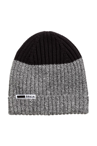 Rib-knit hat - Black -  | H&M 1