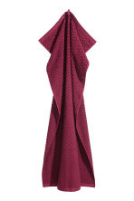 Jacquard-patterned bath towel - Burgundy - Home All | H&M CN 2