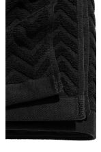 Jacquard-patterned bath towel - Black - Home All | H&M CA 3