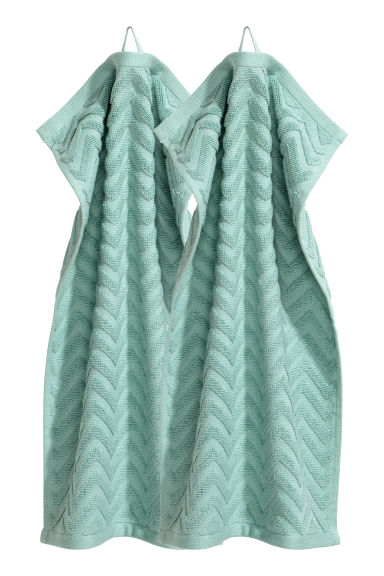 2-pack guest towels - Turquoise - Home All | H&M IE