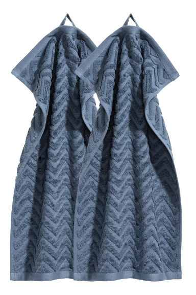 2-pack guest towels - Pigeon blue - Home All | H&M CN 1