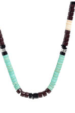 Beaded necklace - Dark brown/Blue - Men | H&M CN 2