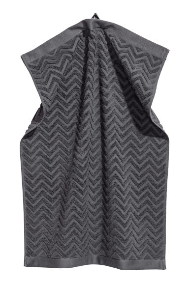Jacquard-patterned towel - Dark grey - Home All | H&M CA 1