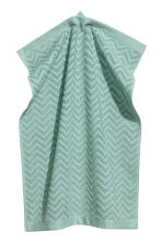 Jacquard-patterned towel - Turquoise - Home All | H&M CA 1