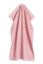 Jacquard-patterned towel - Light pink - Home All | H&M CN 1
