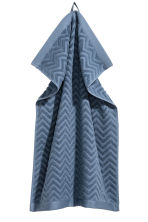 Jacquard-patterned towel - Pigeon blue - Home All | H&M CA 1