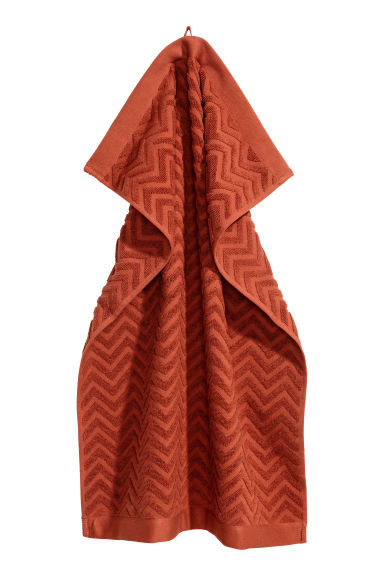 Serviette à motif jacquard - Orange - Home All | H&M FR 1