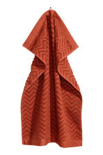 Jacquard-patterned hand towel - Orange - Home All | H&M CN 1
