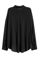Wide shirt - Black - Ladies | H&M CN 3