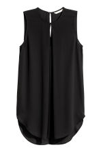 Top with a pleat - Black - Ladies | H&M 2