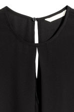 Top with a pleat - Black - Ladies | H&M 3