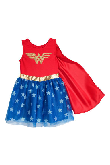 Verkleedpak - superheld - Rood/Wonder Woman - KINDEREN | H&M BE