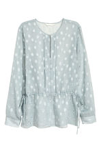 Patterned chiffon blouse - Light blue-grey - Ladies | H&M CN 2