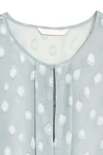 Patterned chiffon blouse - Light blue-grey - Ladies | H&M CN 3