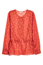 Patterned chiffon blouse - Rust red - Ladies | H&M CN 2