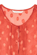Patterned chiffon blouse - Rust red - Ladies | H&M CN 3