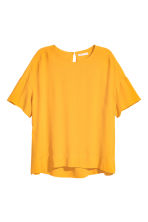 Crêpe top - Yellow - Ladies | H&M 2