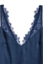 Top in satin con pizzo - Blu scuro - DONNA | H&M IT 3