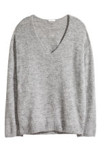 Fine-knit Sweater - Gray melange - Ladies | H&M CA 2