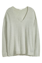 Fine-knit jumper - Dark green marl - Ladies | H&M CN 2
