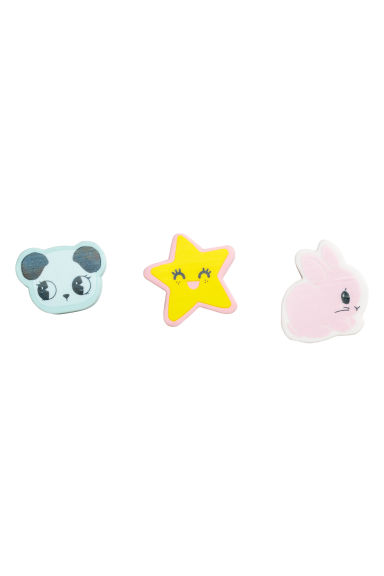 3-pack erasers - Pink/Rabbit - Kids | H&M CN