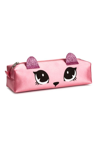 Satin pencil case - Pink/Glittery -  | H&M 1