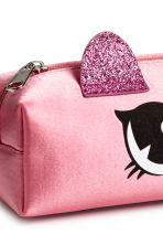 Satin pencil case - Pink/Glittery -  | H&M 2