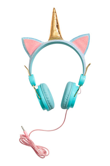 On-ear headphones - Turquoise/Unicorn -  | H&M 1