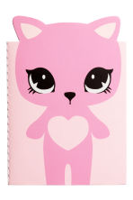 Notebook - Pink/Cat - Kids | H&M 1