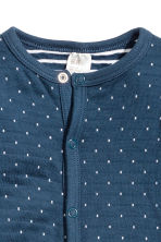 Cotton all-in-one pyjamas - Dark blue/White spotted - Kids | H&M CN 3