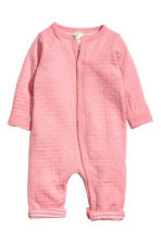 Cotton Jumpsuit - Pink/white dotted -  | H&M CA 1