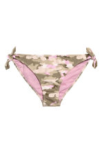 Bikini bottoms with ties - Khaki green/Patterned - Ladies | H&M 2