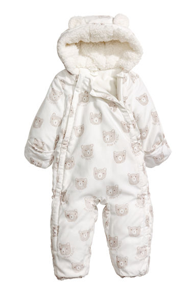 Padded all-in-one suit - White/Bears - Kids | H&M CN