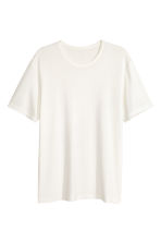Viscose jersey T-shirt - Natural white - Men | H&M CN 2