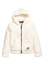 Hooded Fleece Jacket - Natural white - Kids | H&M CA 2