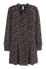 Chiffon dress - Black/Floral - Ladies | H&M IE 2