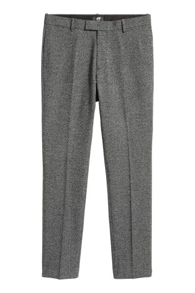 Suit trousers Slim fit - Black/Marled - Men | H&M
