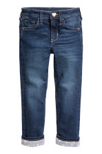 Slim Lined Jeans - Dark denim blue -  | H&M 2