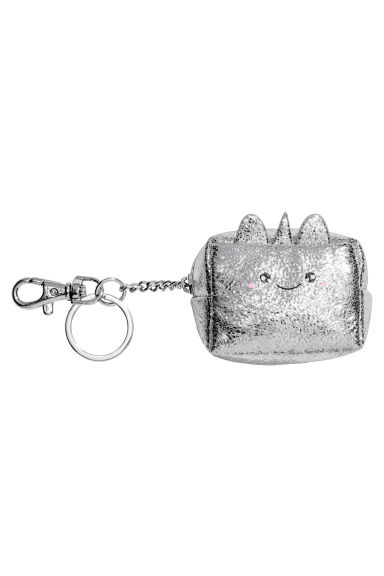 Mini Pouch with Key Chain - Silver-colored/unicorn - Ladies | H&M CA 1