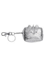 Mini pouch with a key chain - Silver-coloured/Unicorn - Ladies | H&M 1