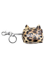 Mini pouch with a key chain - Leopard print/Meow - Ladies | H&M 1