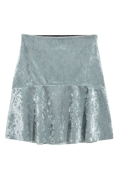 Crushed velvet skirt Model