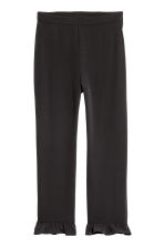 Frilled trousers - Black - Ladies | H&M GB 2