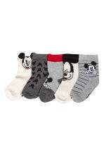 5-pack socks - Grey marl/Mickey Mouse -  | H&M CN 1