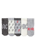 5-pack socks - Grey AC/DC - Kids | H&M 2