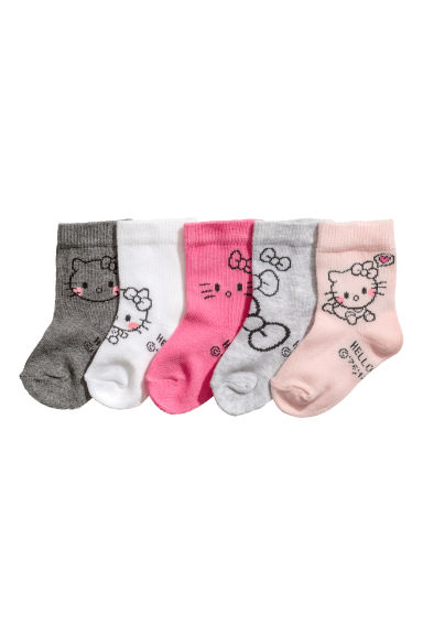 5-pack socks - Light pink - Kids | H&M CN 1