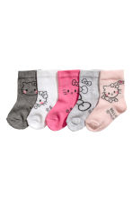 5-pack socks - Light pink - Kids | H&M 1