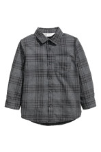 Dark grey/Black checked