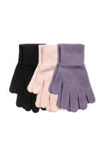 3-pack gloves - Powder pink -  | H&M 1