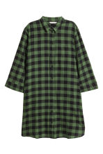 Patterned dress - Green/Black checked - Ladies | H&M IE 2